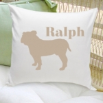 Silhouette Personalized Dog Throw Pillow (40 Dog Designs)