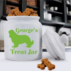 Personalized Silhouette Dog Treat Jar (40 Dog Designs) imagerjs