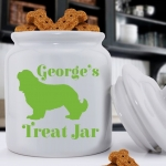 Personalized Silhouette Dog Treat Jar (40 Dog Designs)