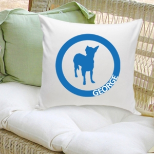 Circle Silhouette Personalized Dog Throw Pillow (40 Designs) imagerjs