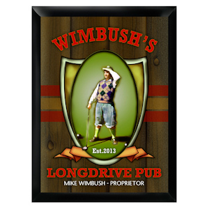 Personalized Long Drive Pub Sign imagerjs