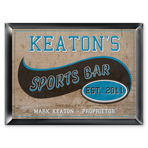 Personalized Sports Bar Pub Sign imagerjs