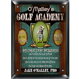 Personalized Golf Academy Sign imagerjs
