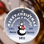Personalized Round Christmas Ornament