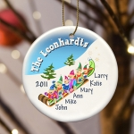 Personalized Elves Family Christmas Ornament (3 Sizes)
