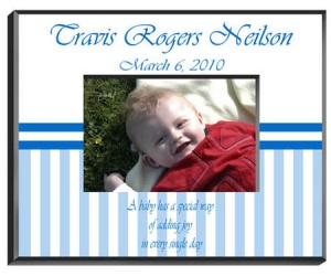 Personalized Baby Boy Frame image