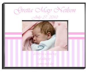 Personalized Baby Girl Frame image