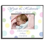 Personalized Baby Polka Dot Frame