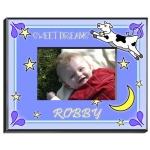 Personalized Cow Jumping Over the Moon Frame (Boy)