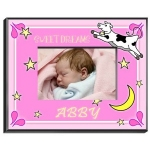 Personalized Cow Jumping Over the Moon Frame (Girl)