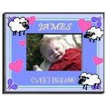 Personalized Counting Sheep Frame (Boy)