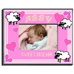 Personalized Counting Sheep Frame (Girl)