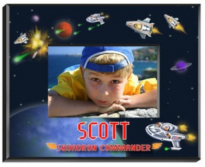 Personalized Boys Space Frame image