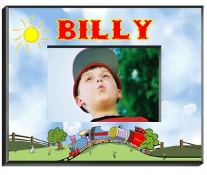 Personalized Train Frame image