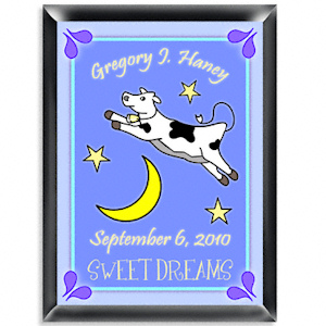 Personalized Cow Jumping Over the Moon Sign (Boy) imagerjs