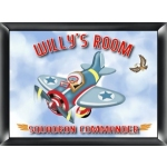 Personalized 'Fly-Boy' Room Sign