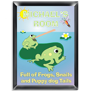 Personalized 'Froggin' Room Sign imagerjs