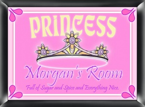 Personalized Princess Room Sign image