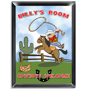 Personalized Cowboy Room Sign imagerjs