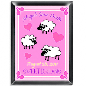 Personalized Counting Sheep Room Sign (Girl) imagerjs