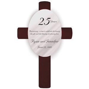 Personalized 25th Anniversary Cross imagerjs