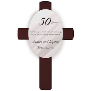 50th Anniversary Personalized Cross imagerjs