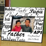 Personalized Dad's Love in any Language Frame
