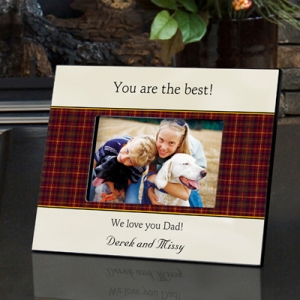 Personalized Father's Day Gingham Frame imagerjs