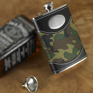 Personalized Green Camo Flask imagerjs