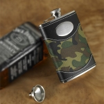 Personalized Green Camo Flask