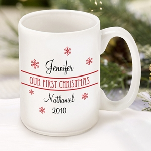 Personalized Our First Christmas Mug (8 Designs) imagerjs