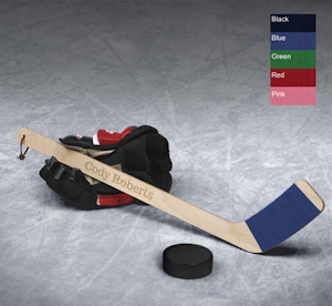 Personalized Mini Hockey Stick imagerjs
