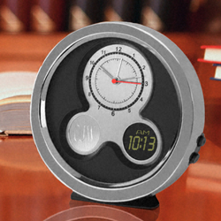 Personalized Modern Times Desk Clock imagerjs