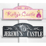 Personalized King or Queen of the Castle Sign