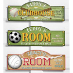 Personalized Sports Room Sign - 9 designs