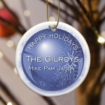 Personalized Christmas Snow Ornaments (5 Designs)