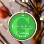 Personalized Initial Christmas Ornament (3 Colors)