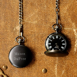 Personalized Midnight Pocket Watch imagerjs