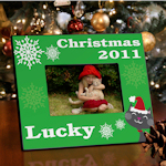 Personalized Cat or Dog Christmas Frame