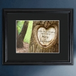 Personalized Carved Tree Anniversary Print