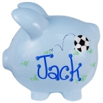 Blue Ceramic Piggy Bank