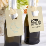 Personalized Gold Baby Shower Bottle Opener Favors