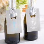 Personalized Religious Silver Credit Card Bottle Openers