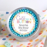 Cute as a Button Personalized Candy Tins (Set of 12)