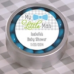 My Little Man Personalized Candy Tins (Set of 12)