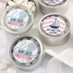 Personalized Nautical Baby Shower Favor Candy Tins