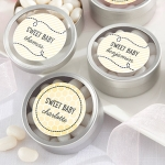 Personalized 'Sweet as can Bee' Candy Tin Shower Favors