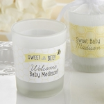 Personalized 'Sweet as Can Bee' Frosted Glass Votives