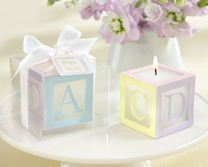 Baby Block Candle Favors (Set of 4) imagerjs