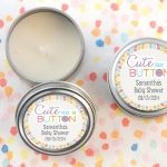 Cute as a Button Personalized Travel Candles